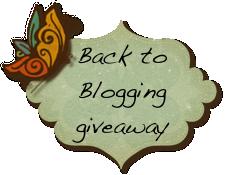 Back to Blogging Giveaway