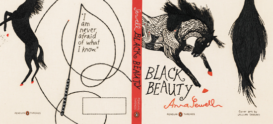 Embroidered Cover of Penguin Classics Black Beauty