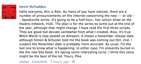 Quote from Facebook Fan Page by Christopher Pike