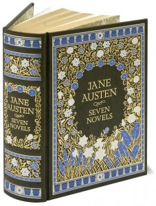Book Cover of Jane Austen - Seven Novels Barnes and Noble Leatherbound Classics edition